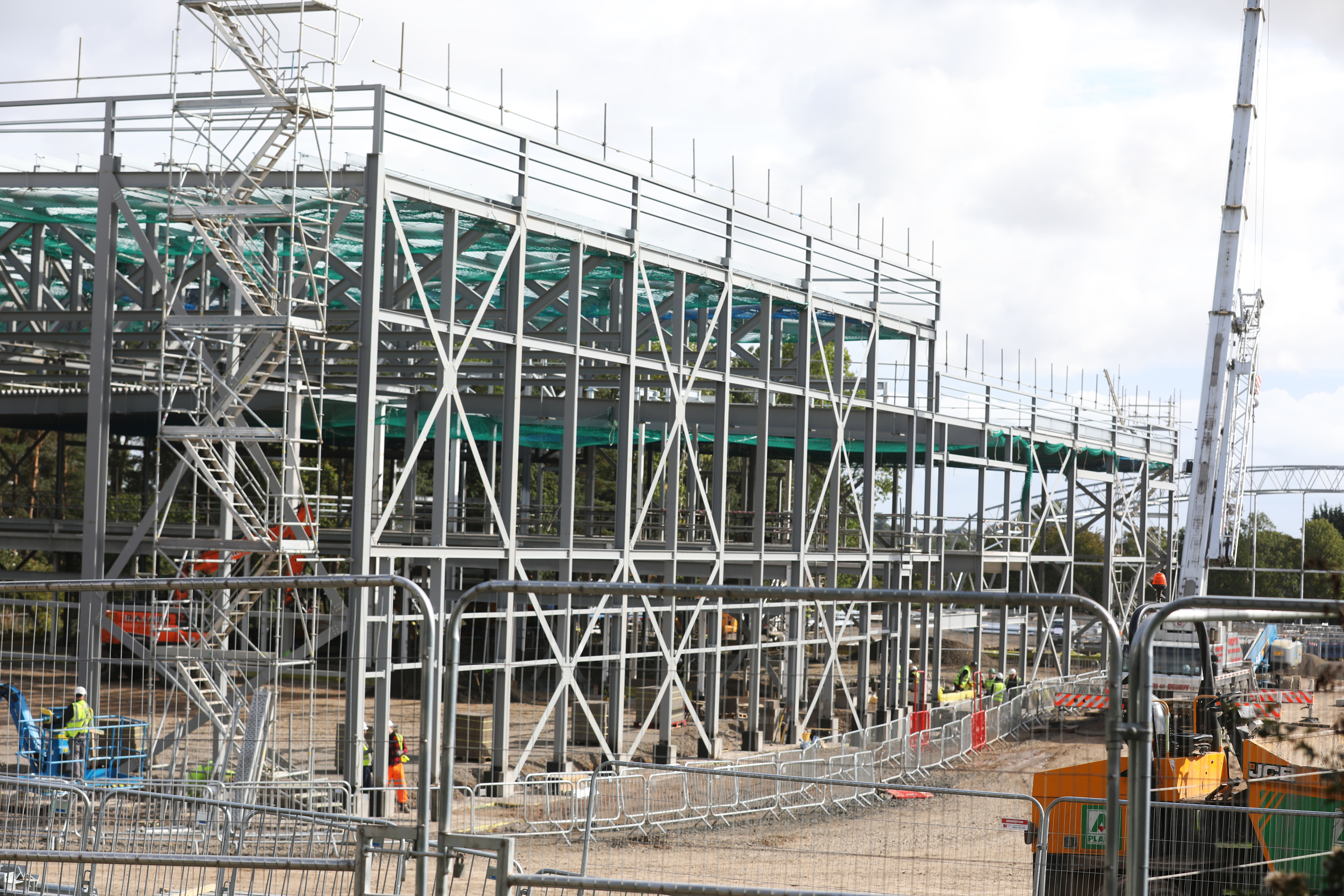 Work on the sport centre at Caird Park