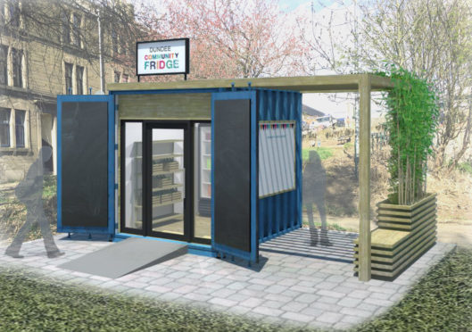 The proposed design of the community fridge