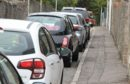 Cars parked on Seafield Road