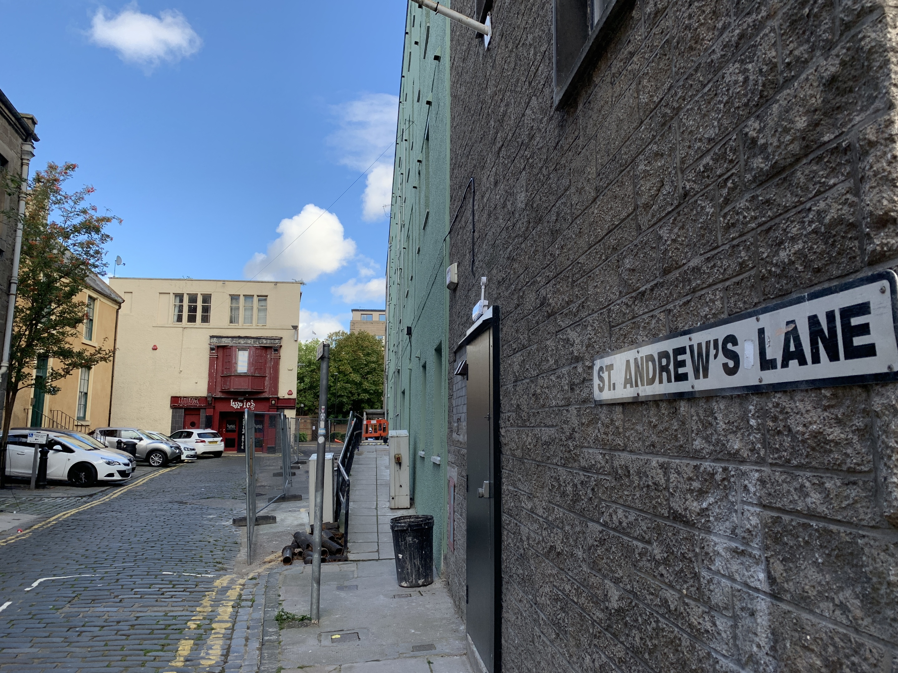 St Andrews Lane, off St Andrews Street, in Dundee city centre (stock image)