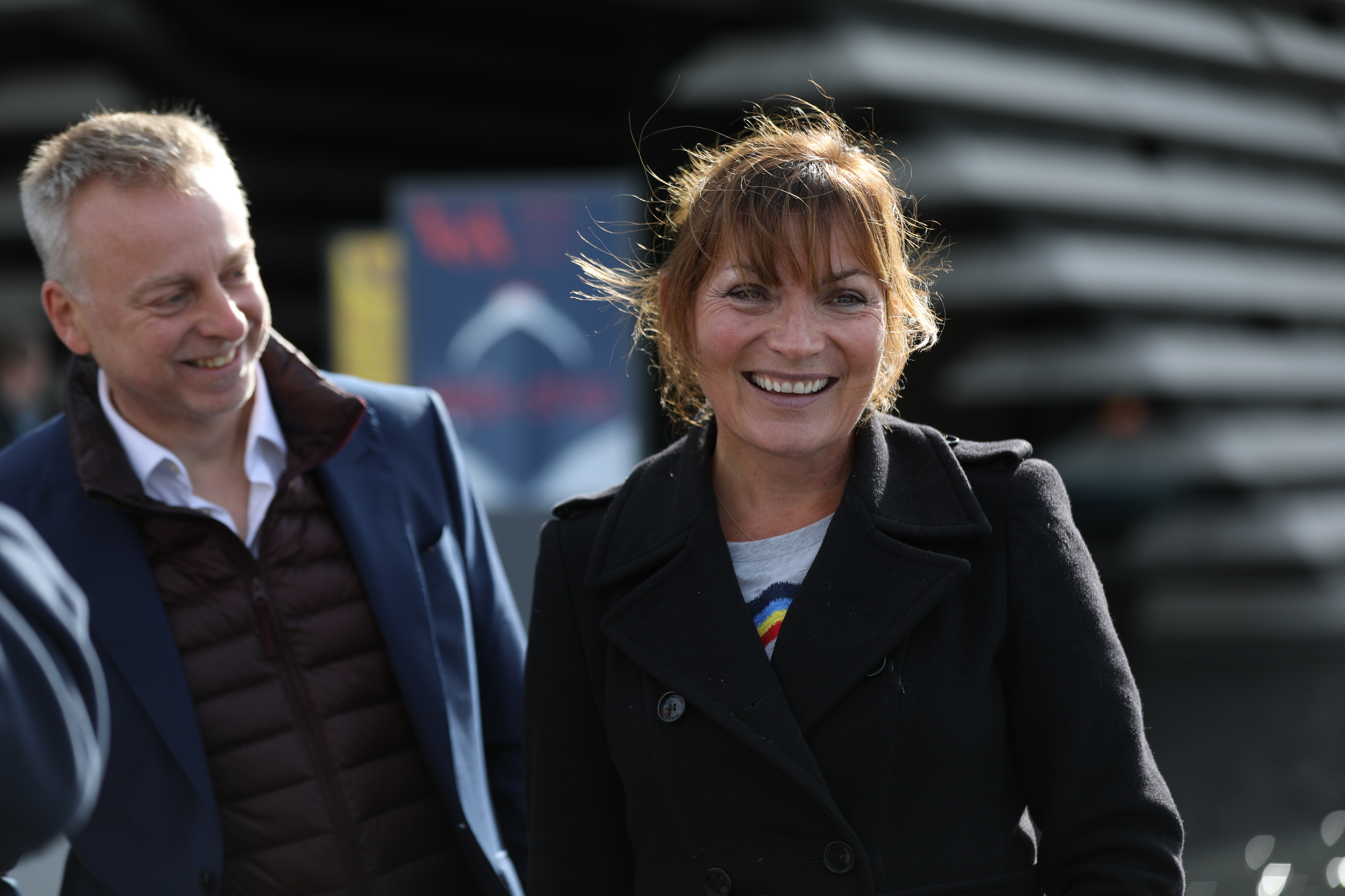 Lorraine Kelly with V&A  Director Philip Long