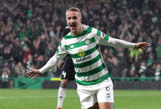 Leigh Griffiths celebrates after scoring a late winner for Celtic against Rosenborg on Thursday night.