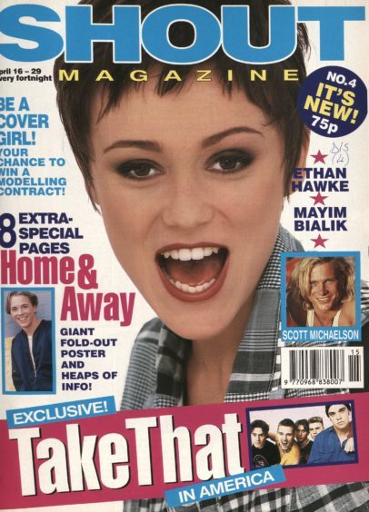 The Bodyguard star made the cover of an early issue of Shout.