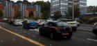 Traffic queues on West Marketgait