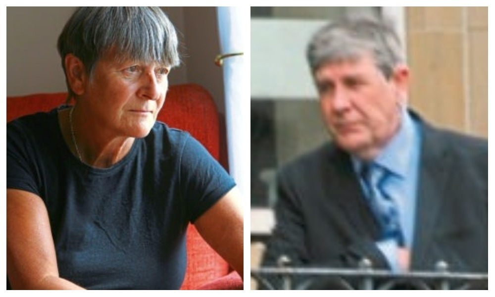 Campaigner Laurie Matthew, left, and convicted pervert Andrew Bayne, right