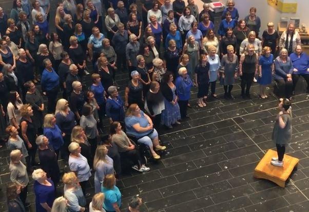 The choir inside the V&A