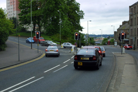 Lochee Road at the junction of Dudhope Terrace