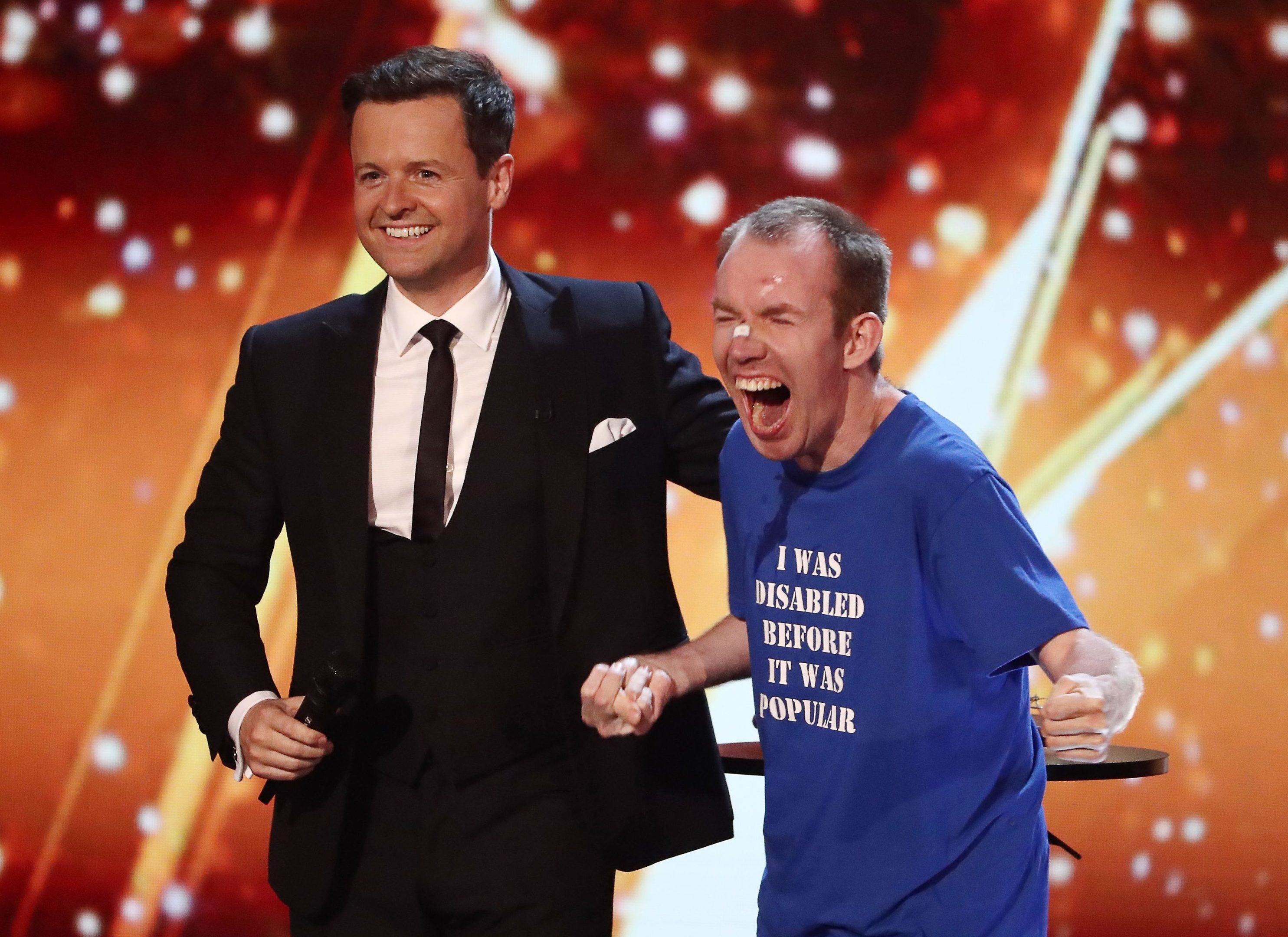 Lost Voice Guy with Britain's Got Talent host Declan Donnelly