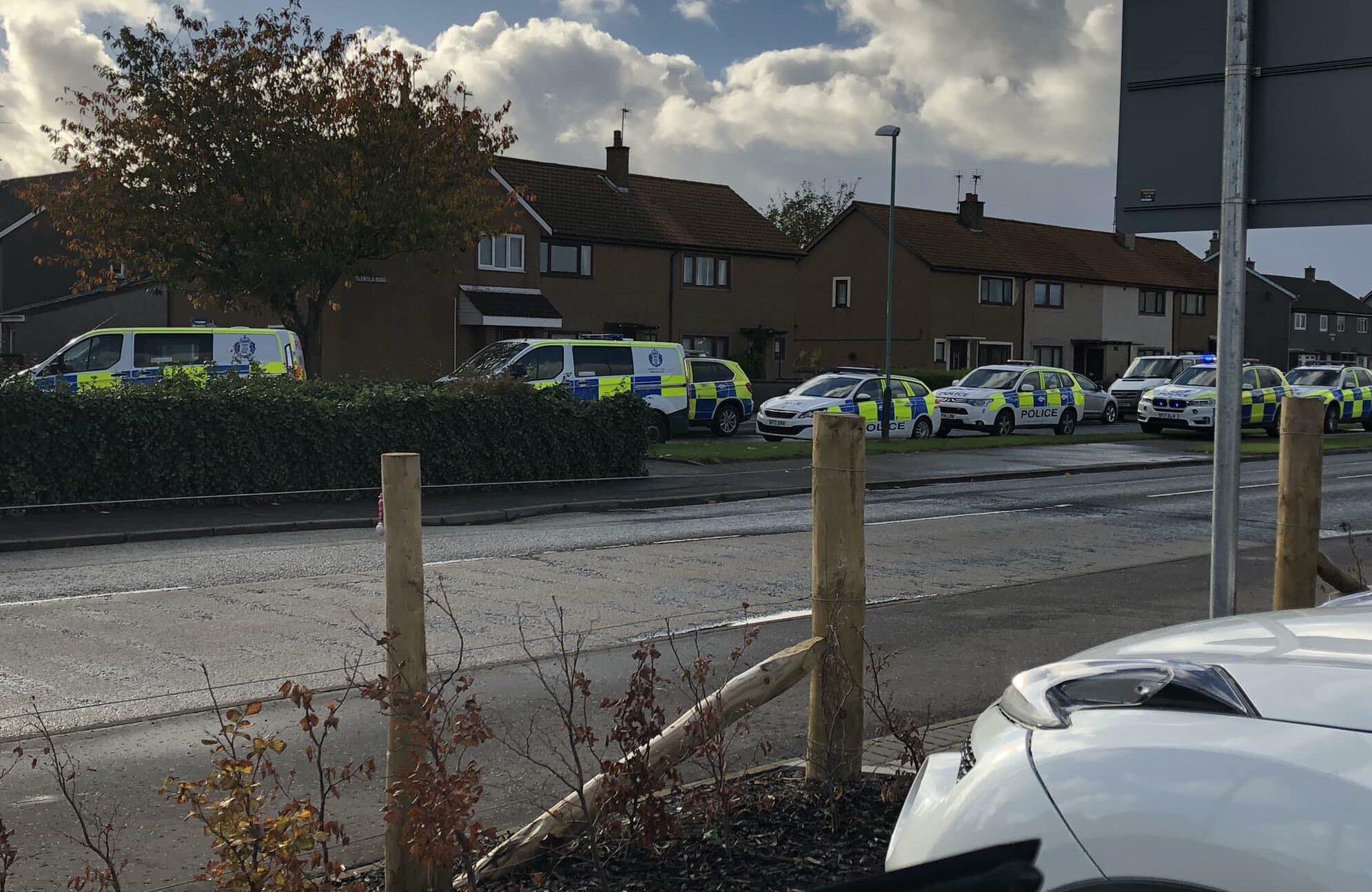 Police on Glenlethnot Place