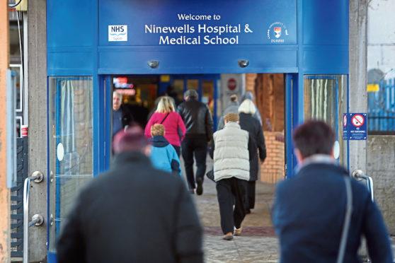 Entrance to Ninewells Hospital, Dundee (stock image)