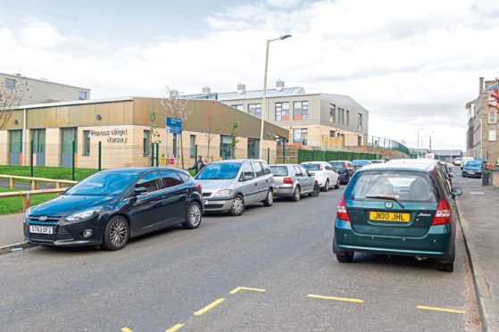 Parking congestion on Ann Street behind the Coldside campus