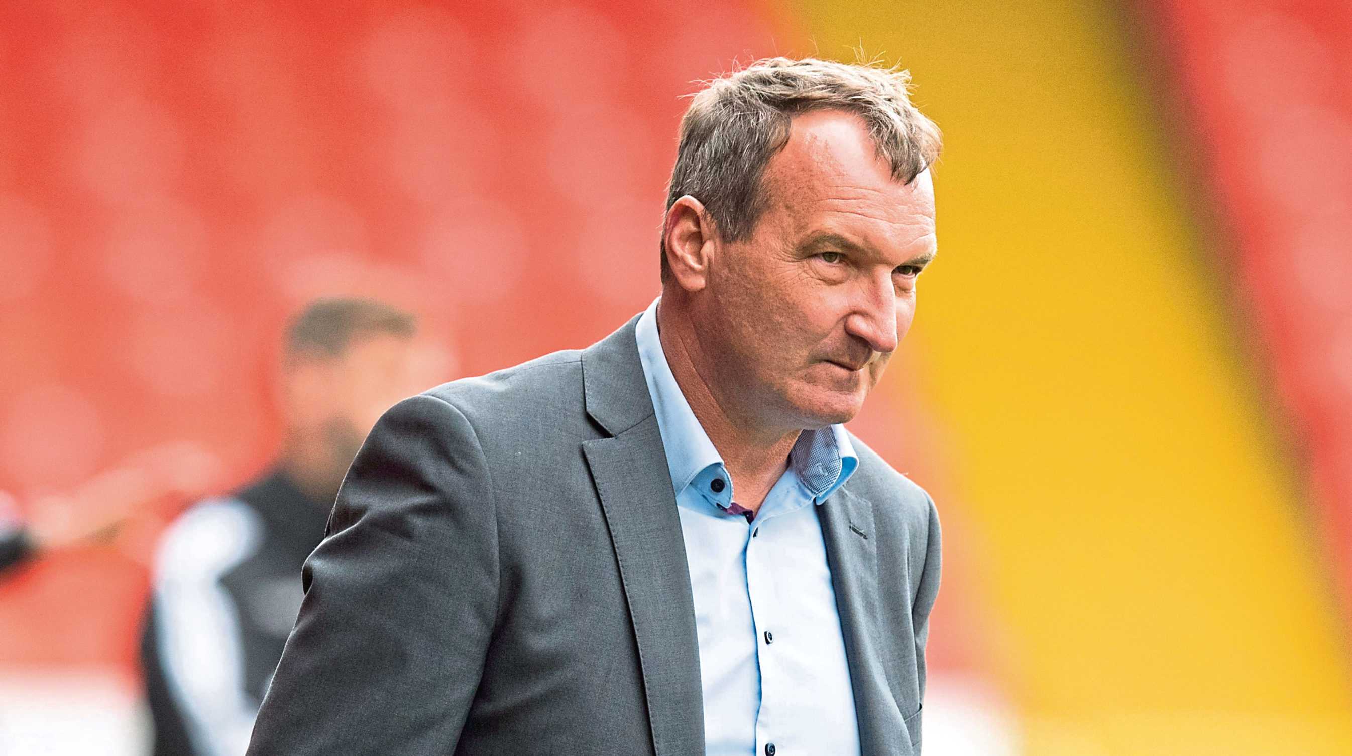 Csaba Laszlo on the touchline