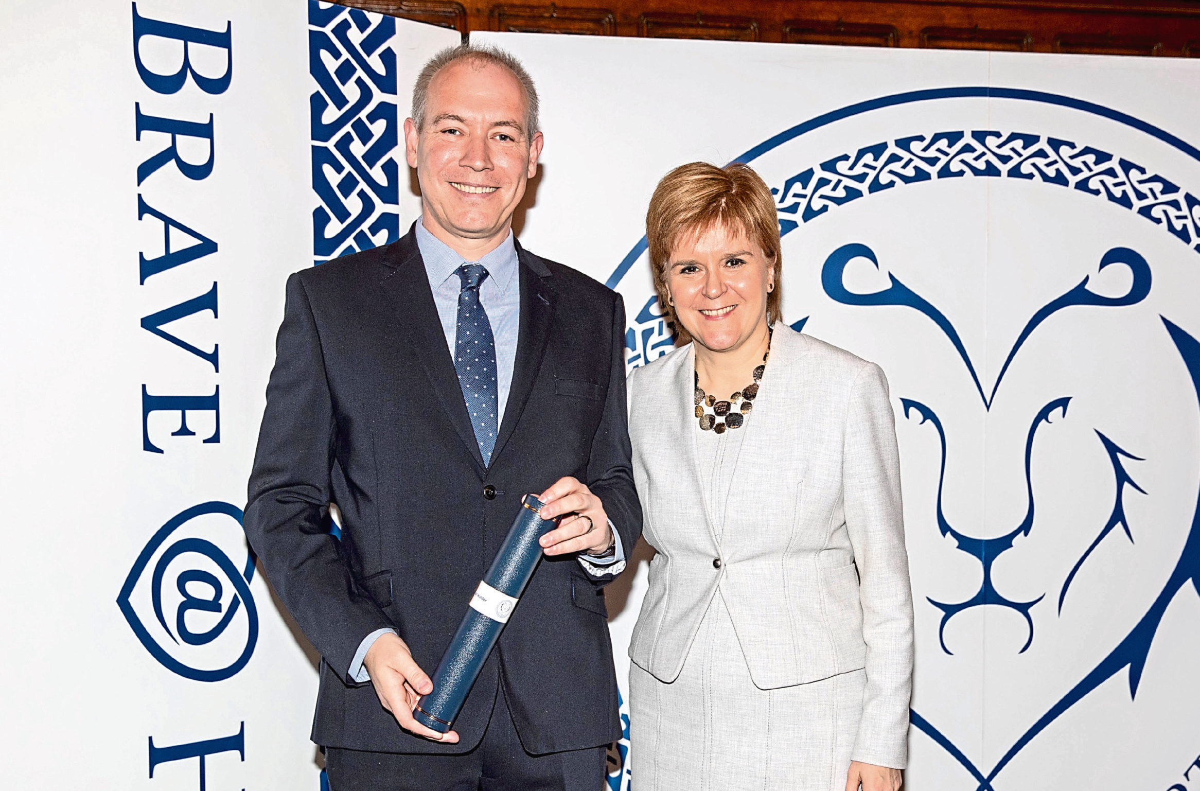 Alistair Hunter with First Minister Nicola Sturgeon