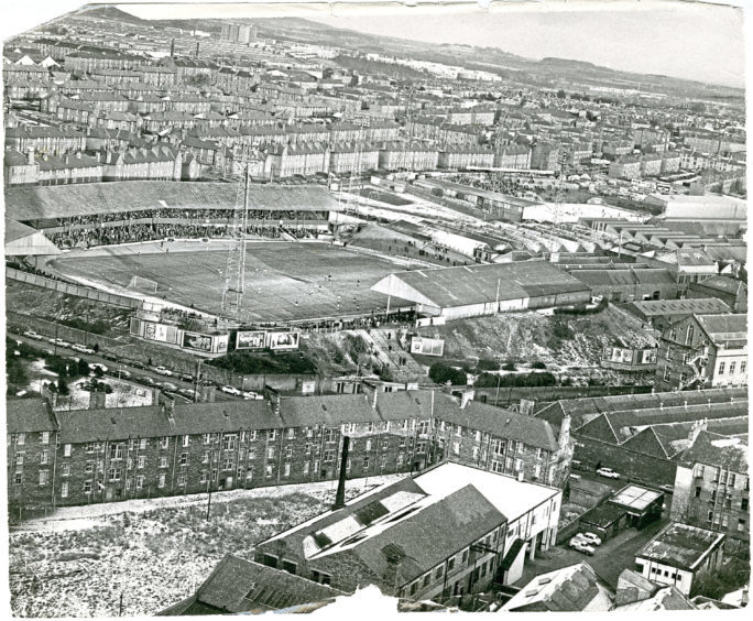 Dens and Tannadice parks in 1976