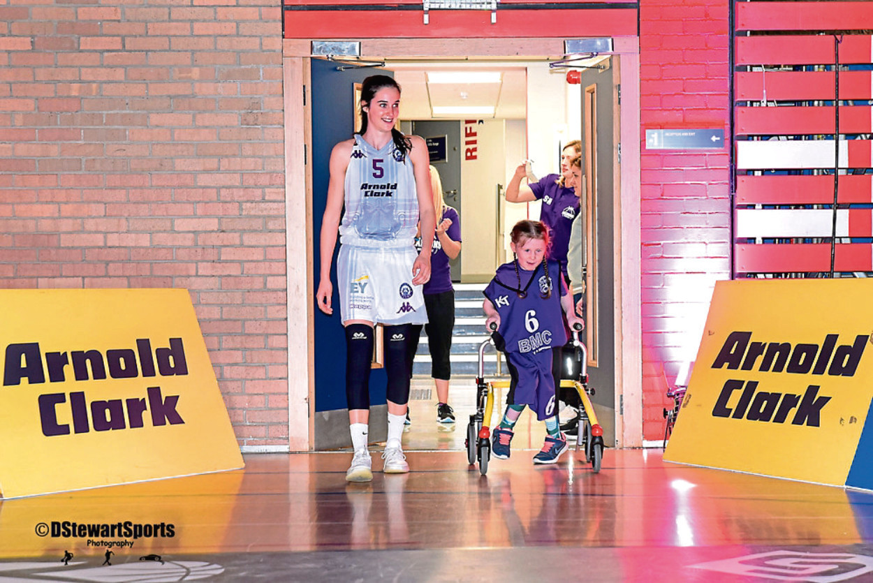 Molly joined the Madsons' under–12 team when they acted as mascots for Caledonia Pride Women's team.