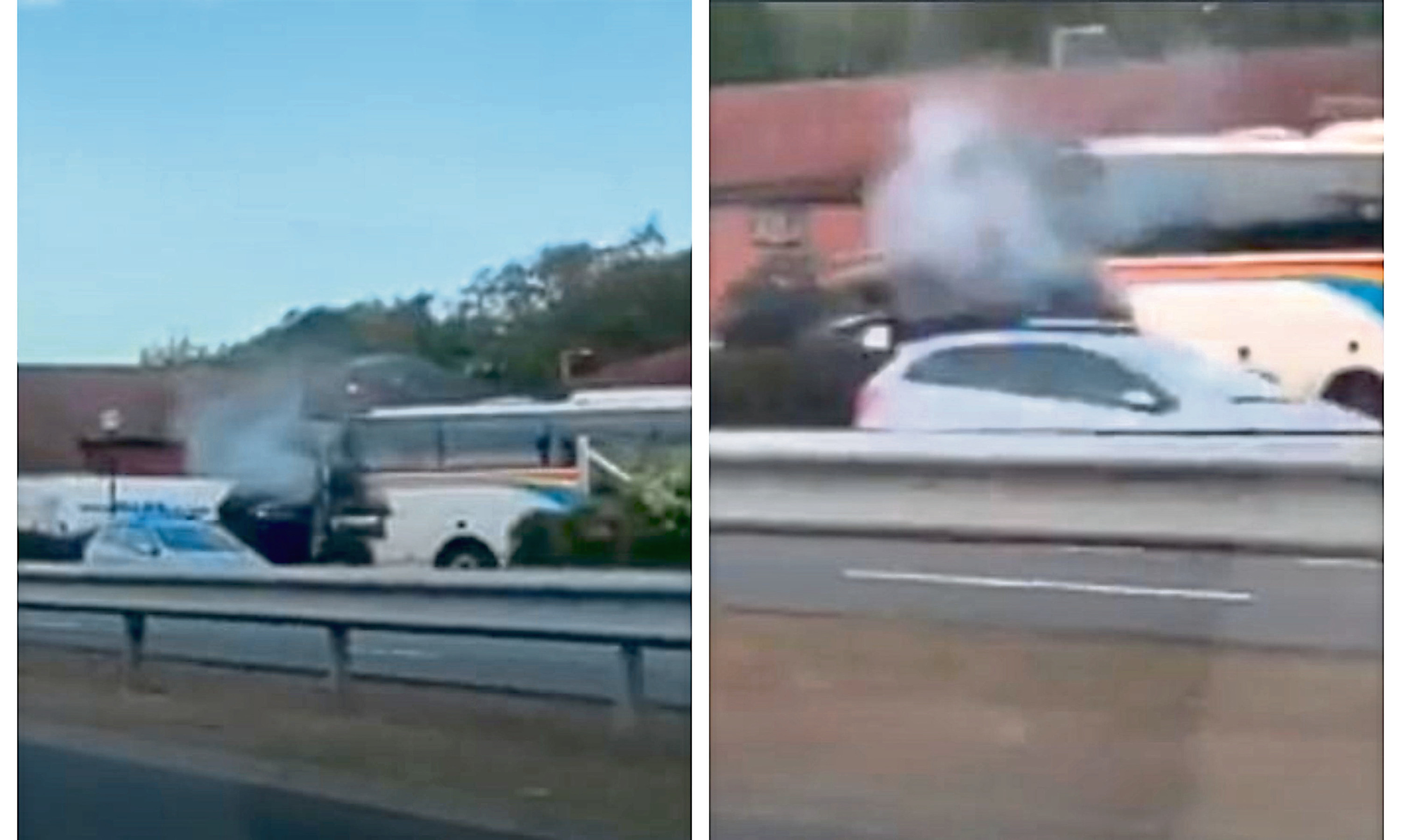 Fire crews were called out to a bus on fire in Dundee on Saturday morning.  The single decker bus caught fire near the BP filling station on Kingsway West just after 8am.