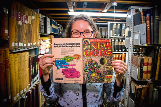 Hailey Austin says she has found comic gems including Punch magazine as well as drafts and proofs of early  DC Thomson comics