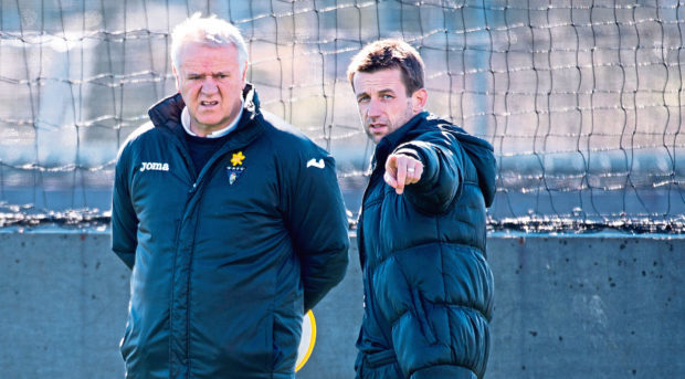 Dundee boss Neil McCann (right) has worked with Jim Jefferies at Dunfermline (above) and Hearts