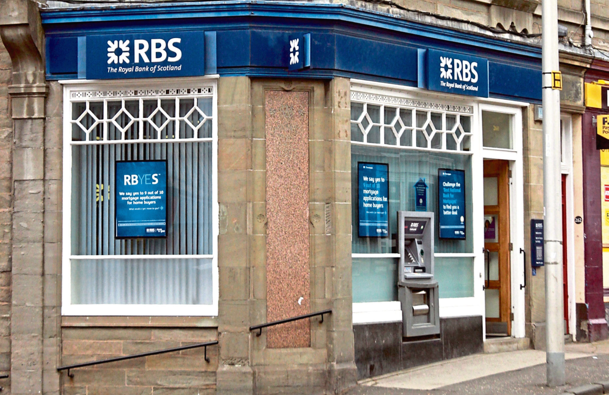 The Royal Bank of Scotland branch in Perth Road at the junction with Step Row, Dundee