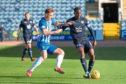 Dundee's Glen Kamara challenges for the ball with Eamonn Brophy of Kilmarnock
