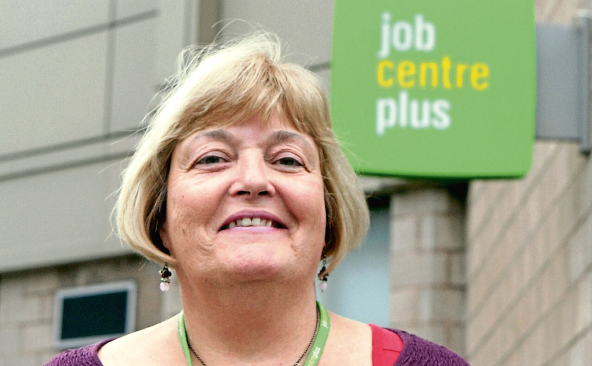 Jane McEwen of the Dundee City Jobcentre