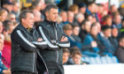 Jim McIntyre (right) and assistant manager Billy Dodds during their time together at Ross County