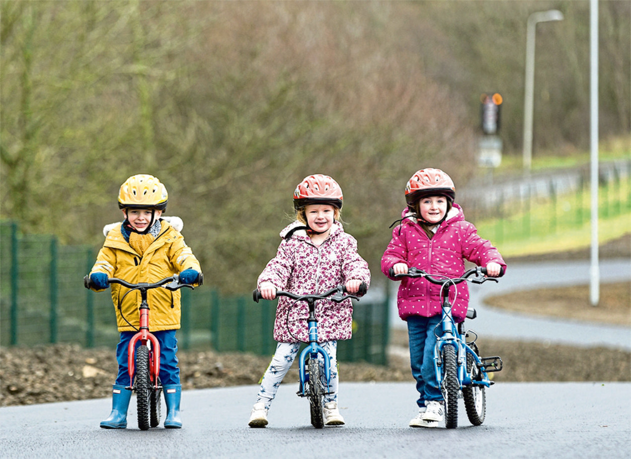 Children are being encouraged to walk or cycle to school when the lockdown lifts