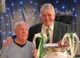 Charlie with Celtic legend John Hughes and the European Cup.