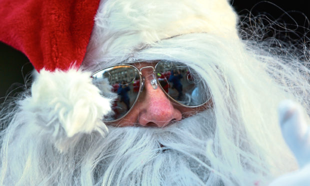 Santa is reportedly sunning it up in the Bahamas.