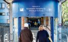 The entrance to Ninewells Hospital