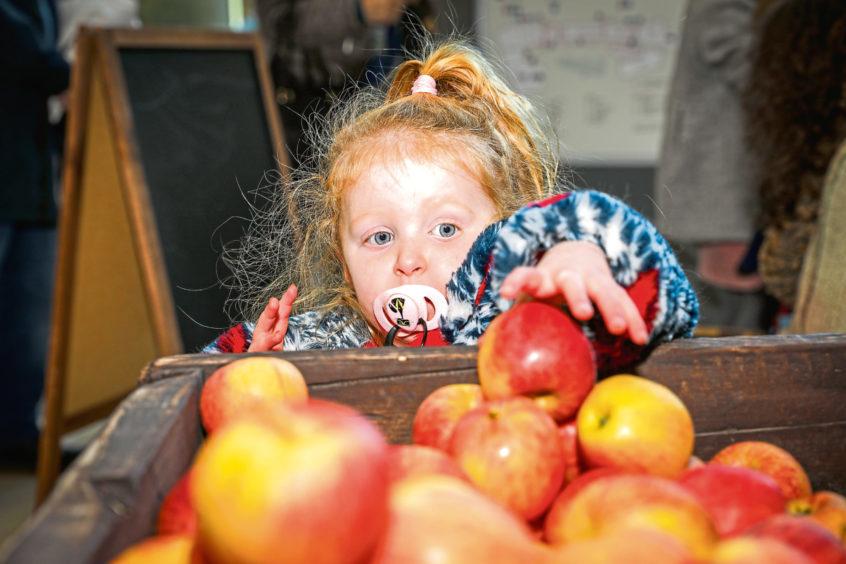 Rosie Johnston, 2, from Linlathen