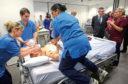 Cardio nurses in training