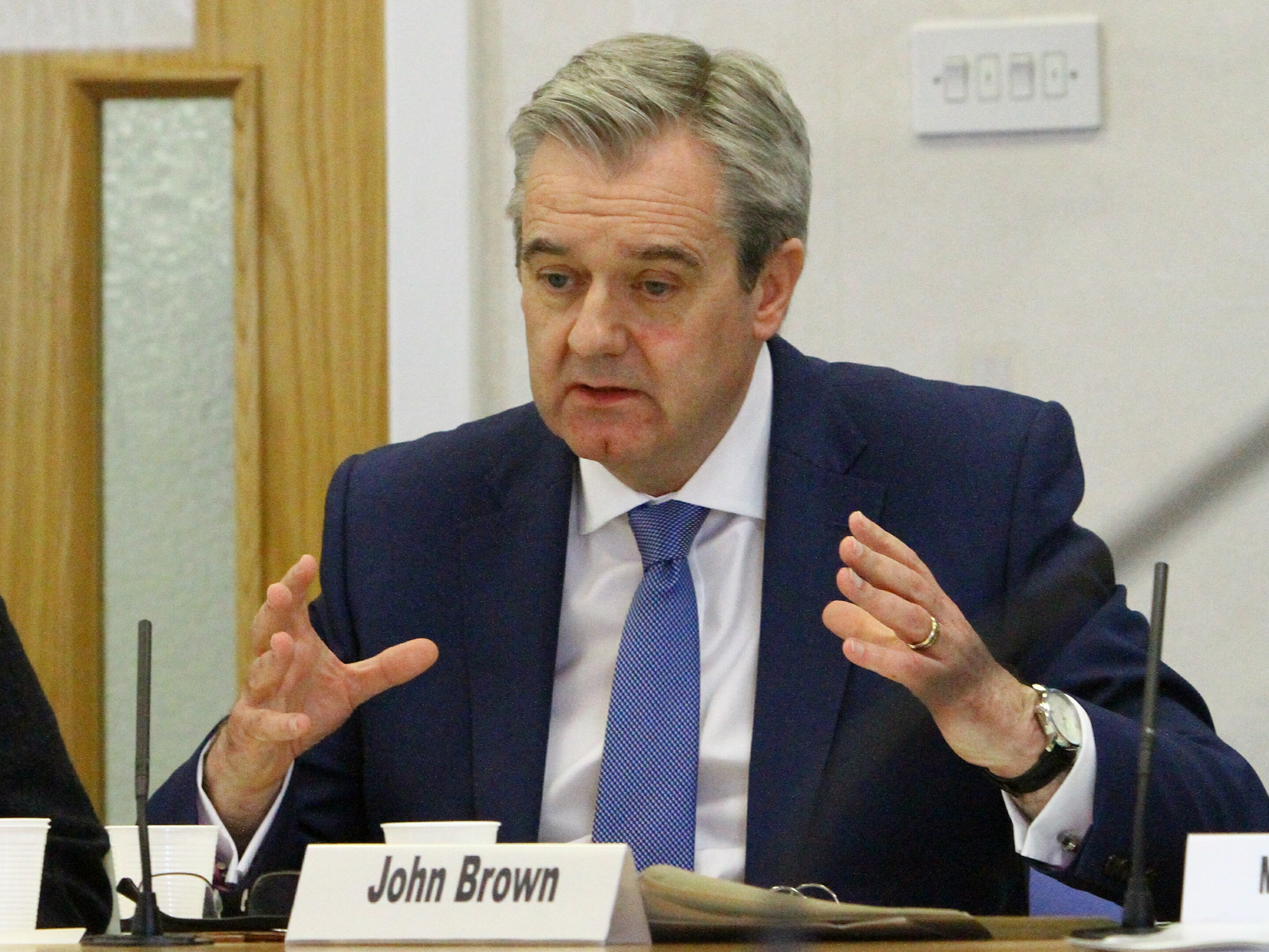 John Brown, chairman of NHS Tayside