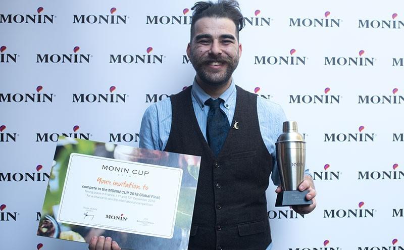 Dimi Savvaidis celebrates winning the Monin Cup