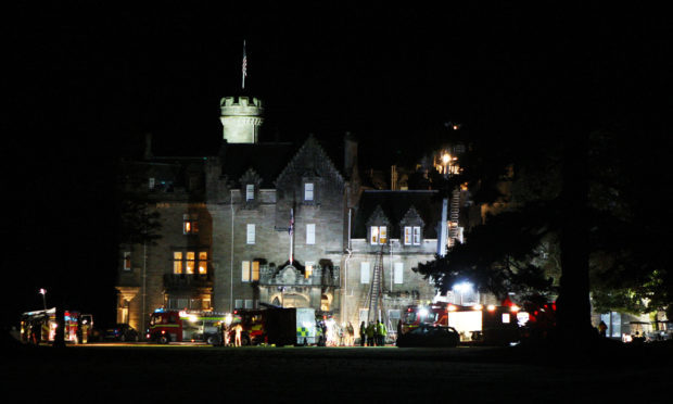 Emergency services attend a fire at Skibo castle
