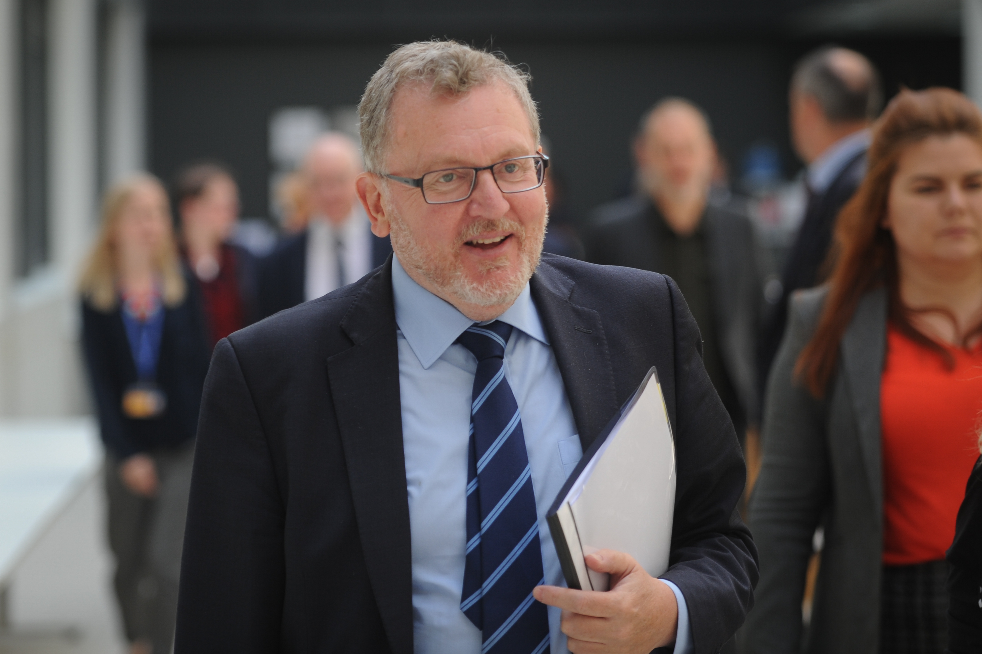 David Mundell in Dundee to discuss the Tay Cities Deal in 2018. He was, at one point, the only Tory MP in Scotland.