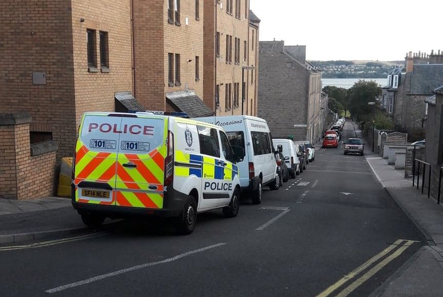 Police on Thomson Street, Dundee
