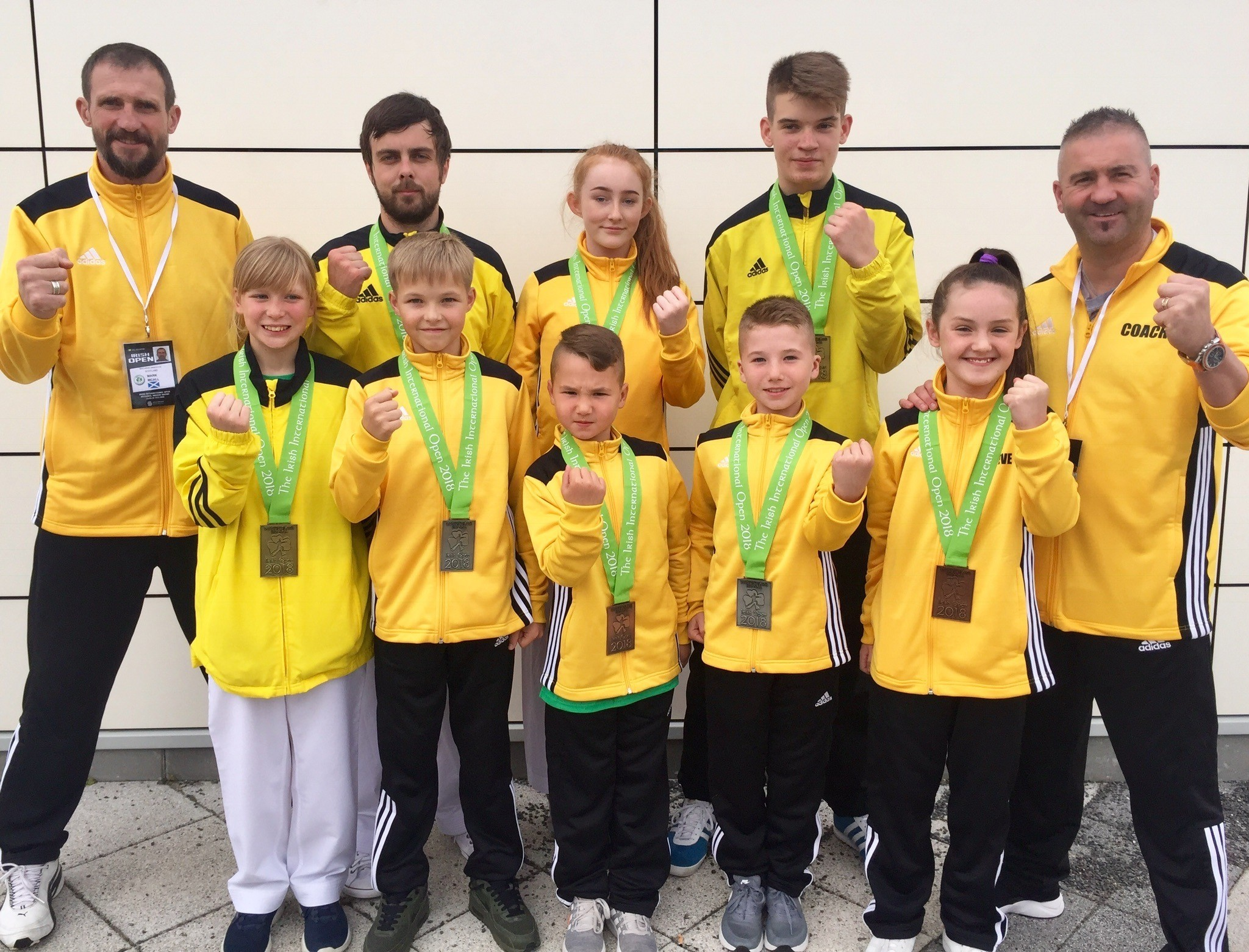 The Sport Karate East squad at the Championships
