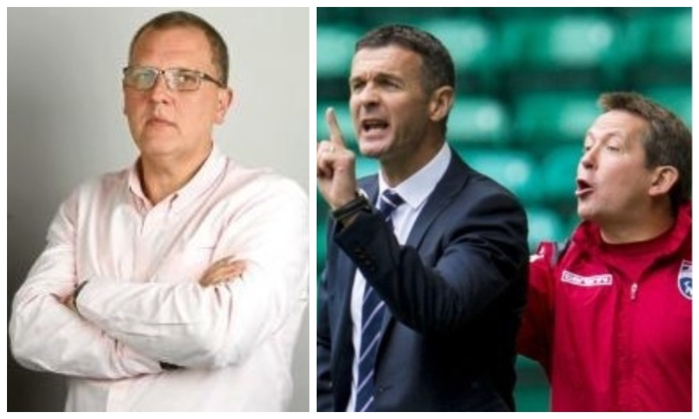 left to right) Tom Duthie, the Tele's lead football reporter, Jim McIntyre and Billy Dodds