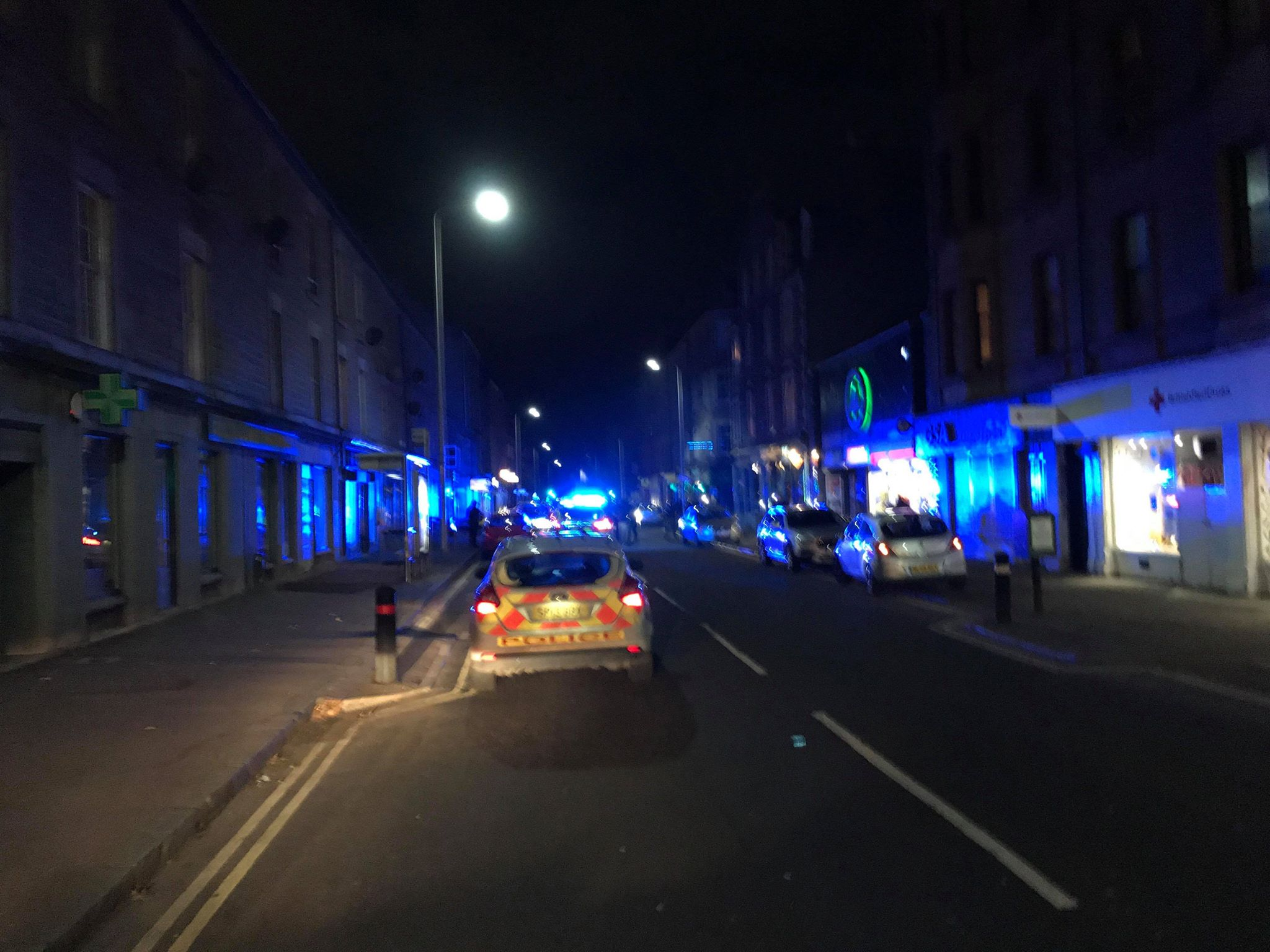 Police on the scene during the operation