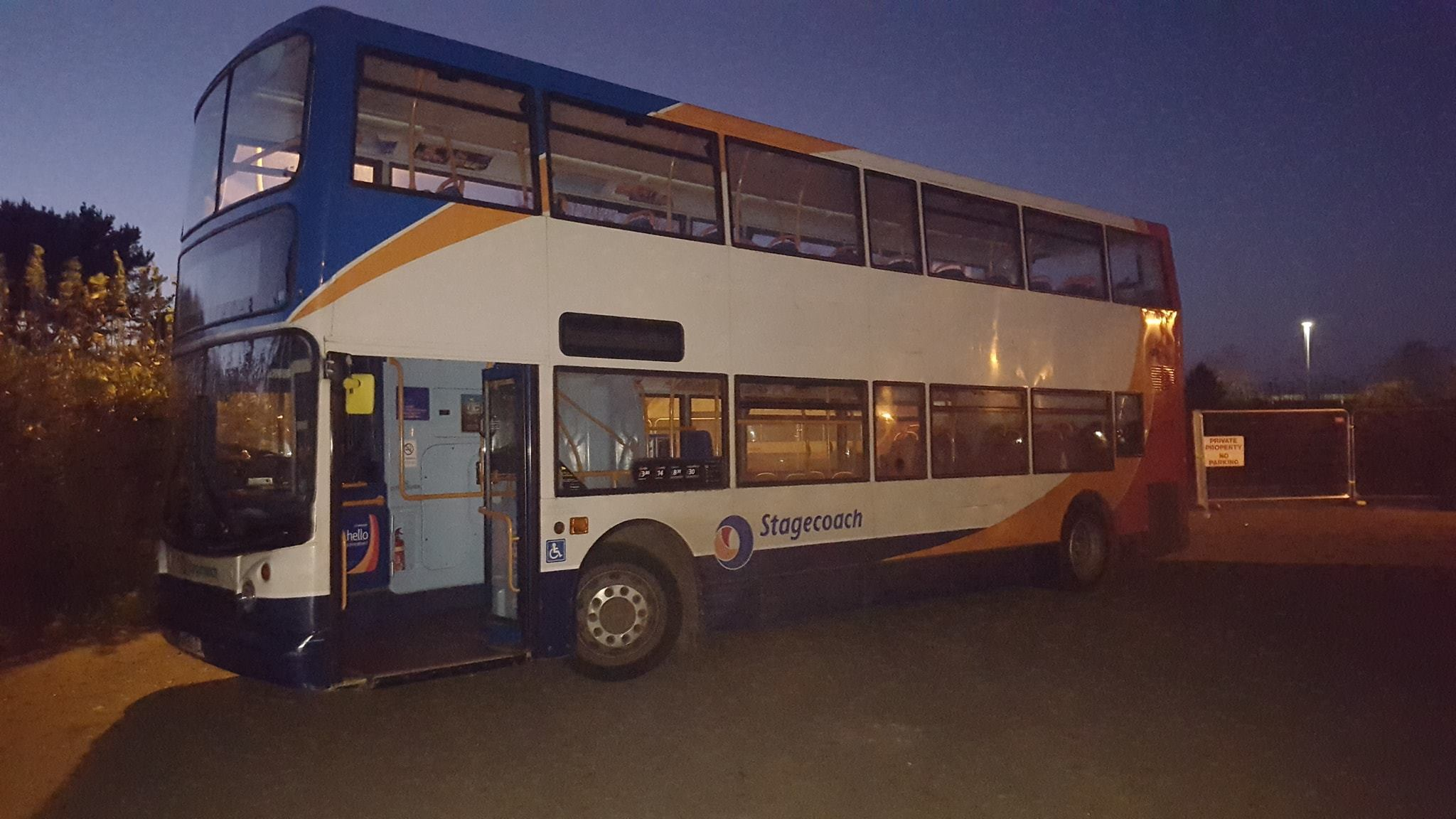 The bus that police stopped after it was stolen