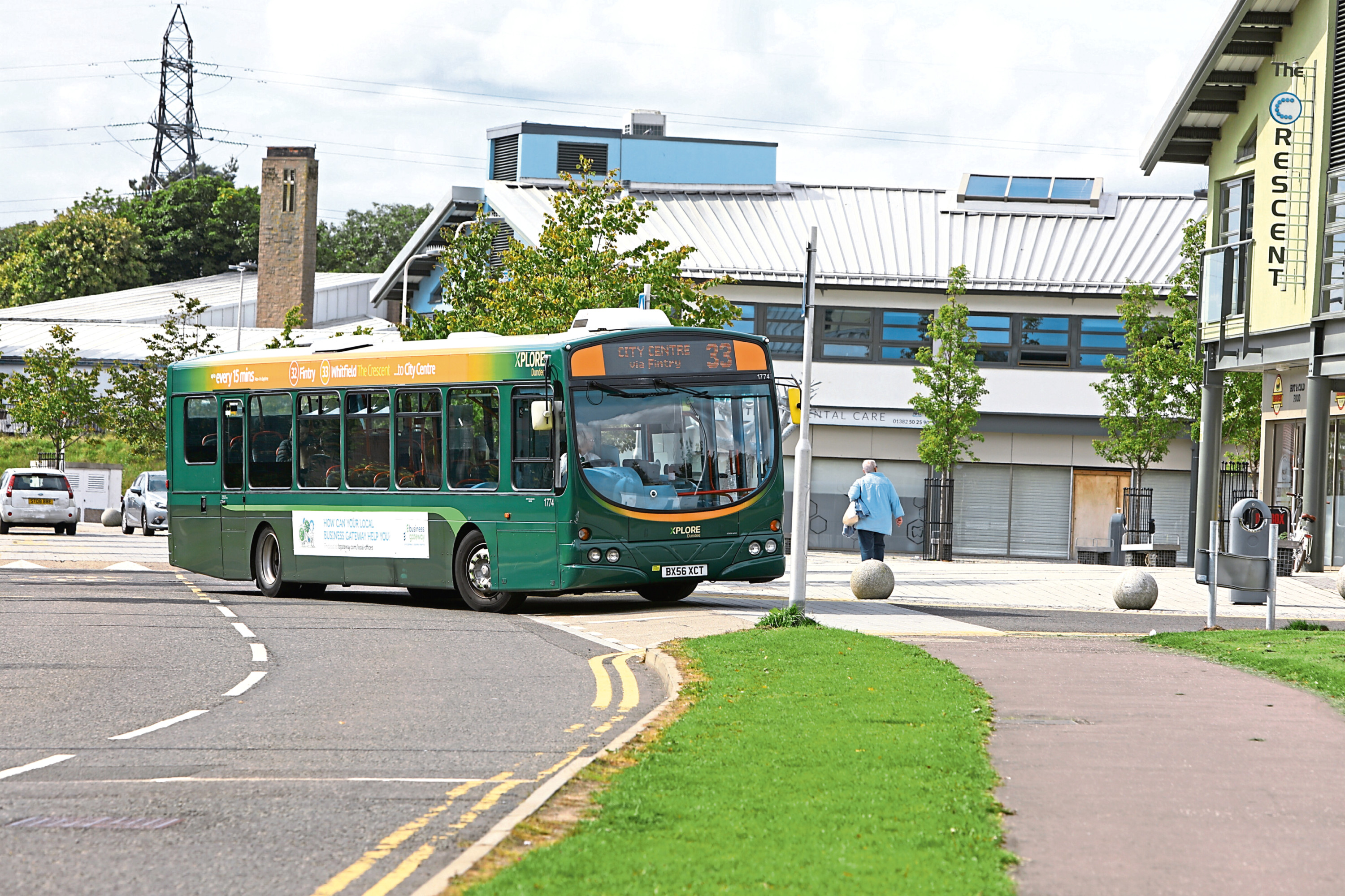 An Xplore Dundee bus service in Whitfield