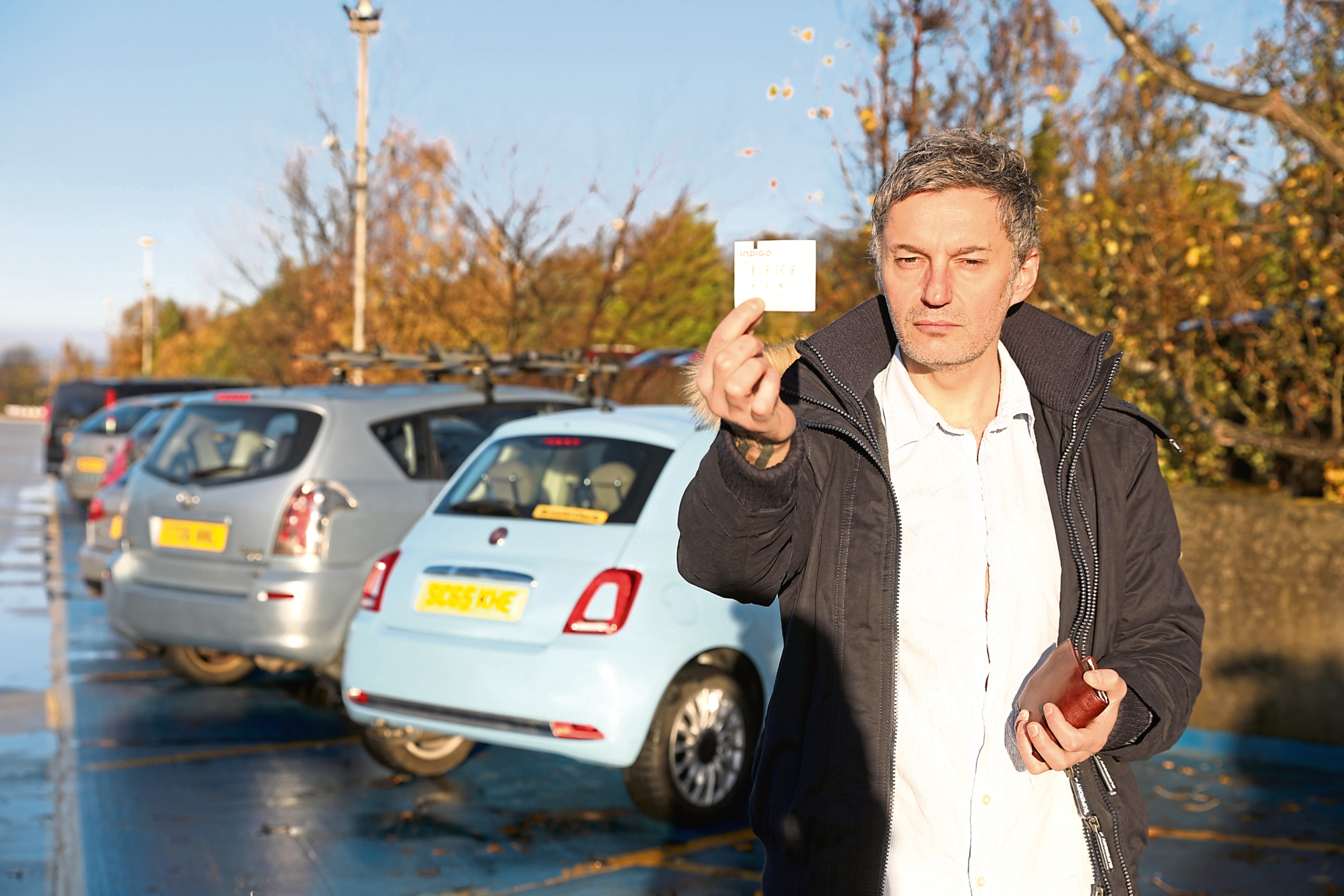 Petr Stepo, 44, from Tayport, in the car park at Ninewells Hospital.
