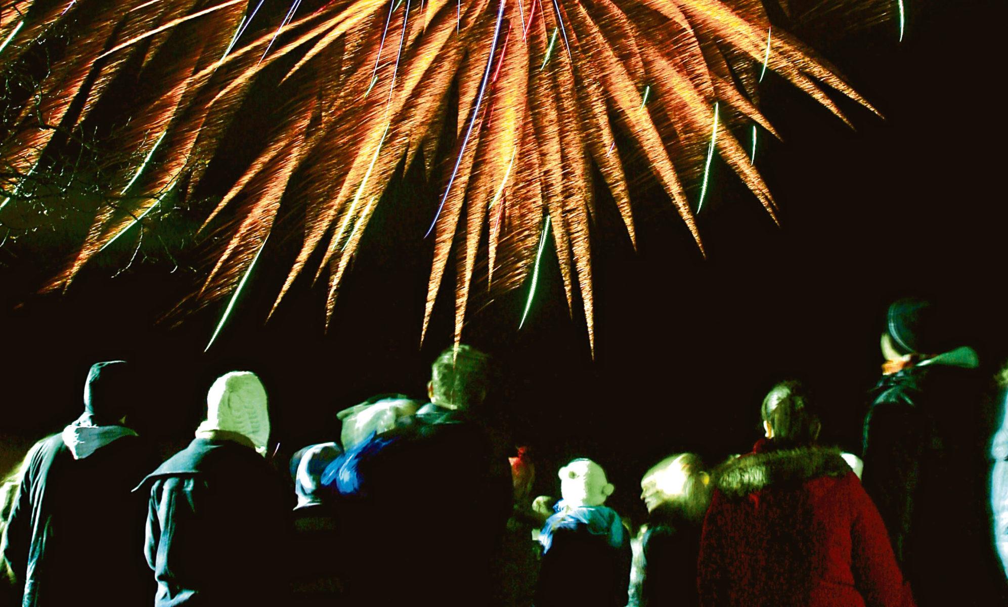 Firework display at Baxter Park