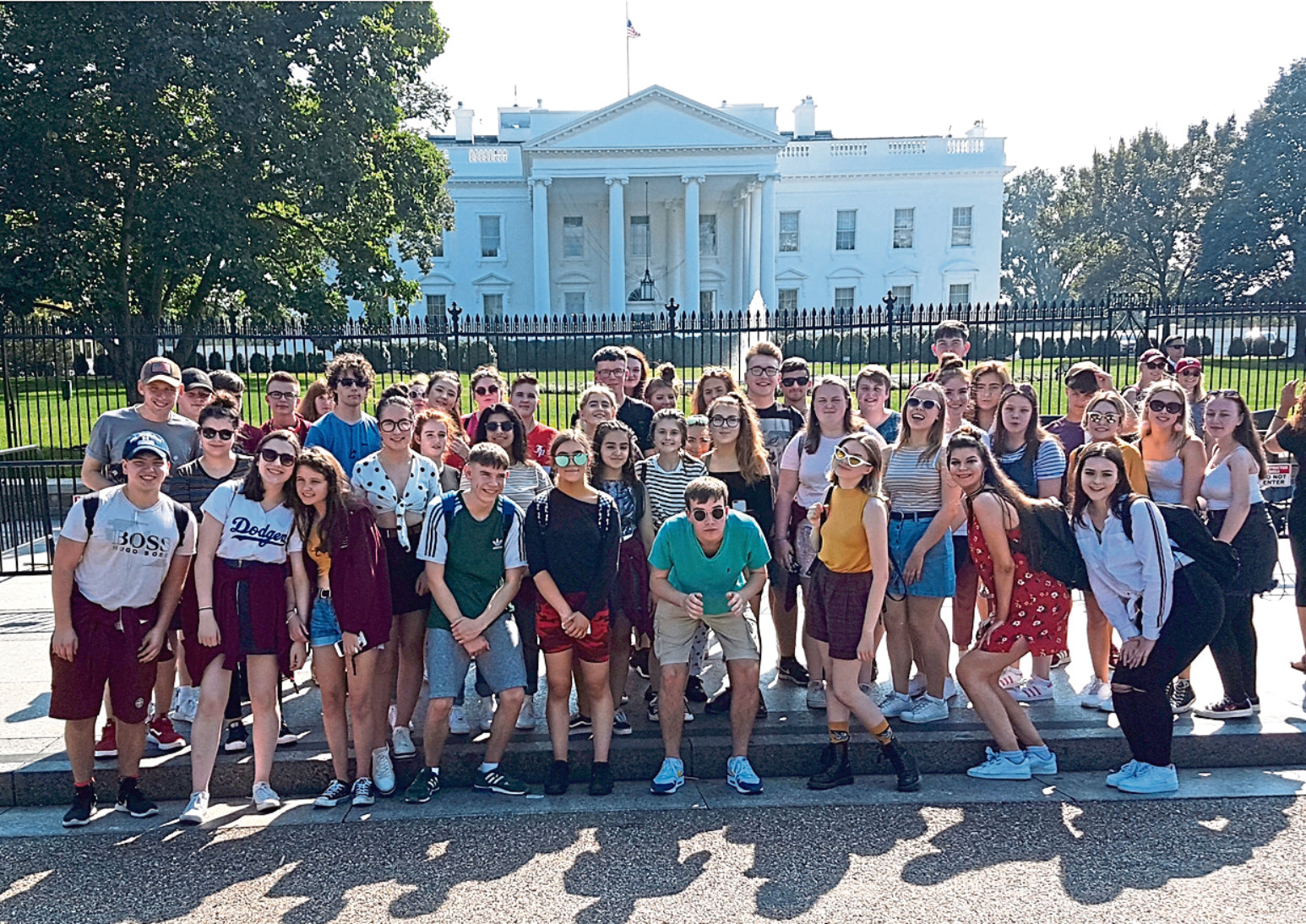 The Morgan Academy pupils outside the White House
