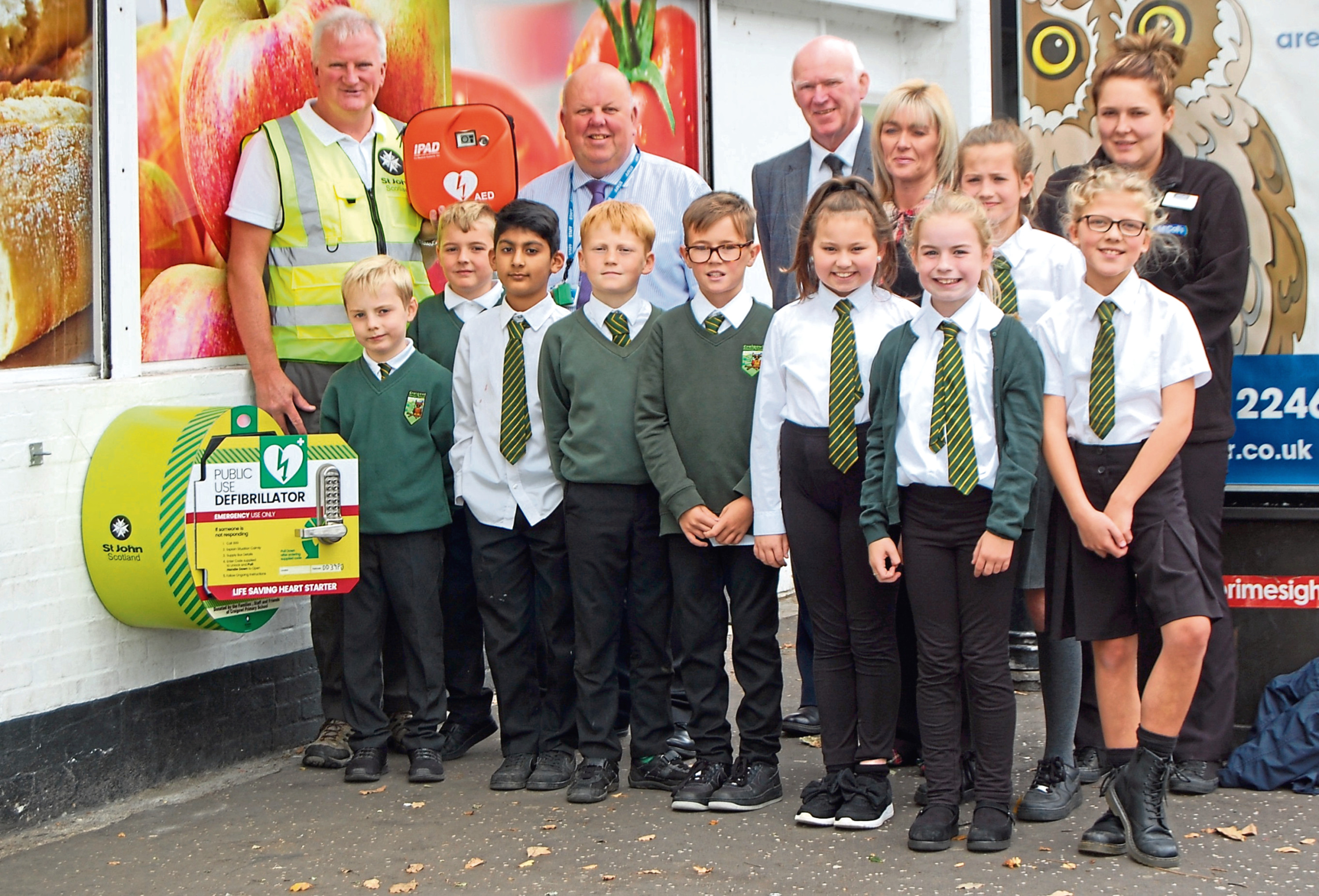 Some of the kids with the defibrillator