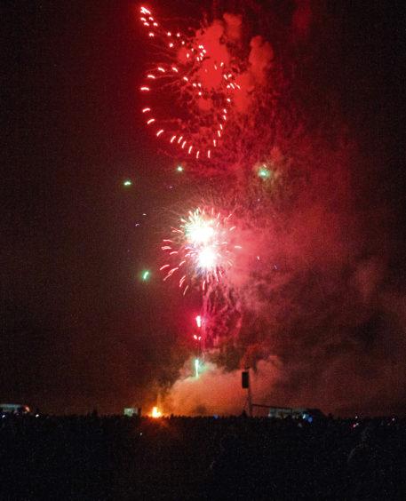 Love heart fireworks light up the sky above Lochee Park