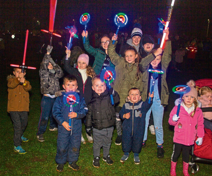 Youngsters enjoy the show at Lochee Park