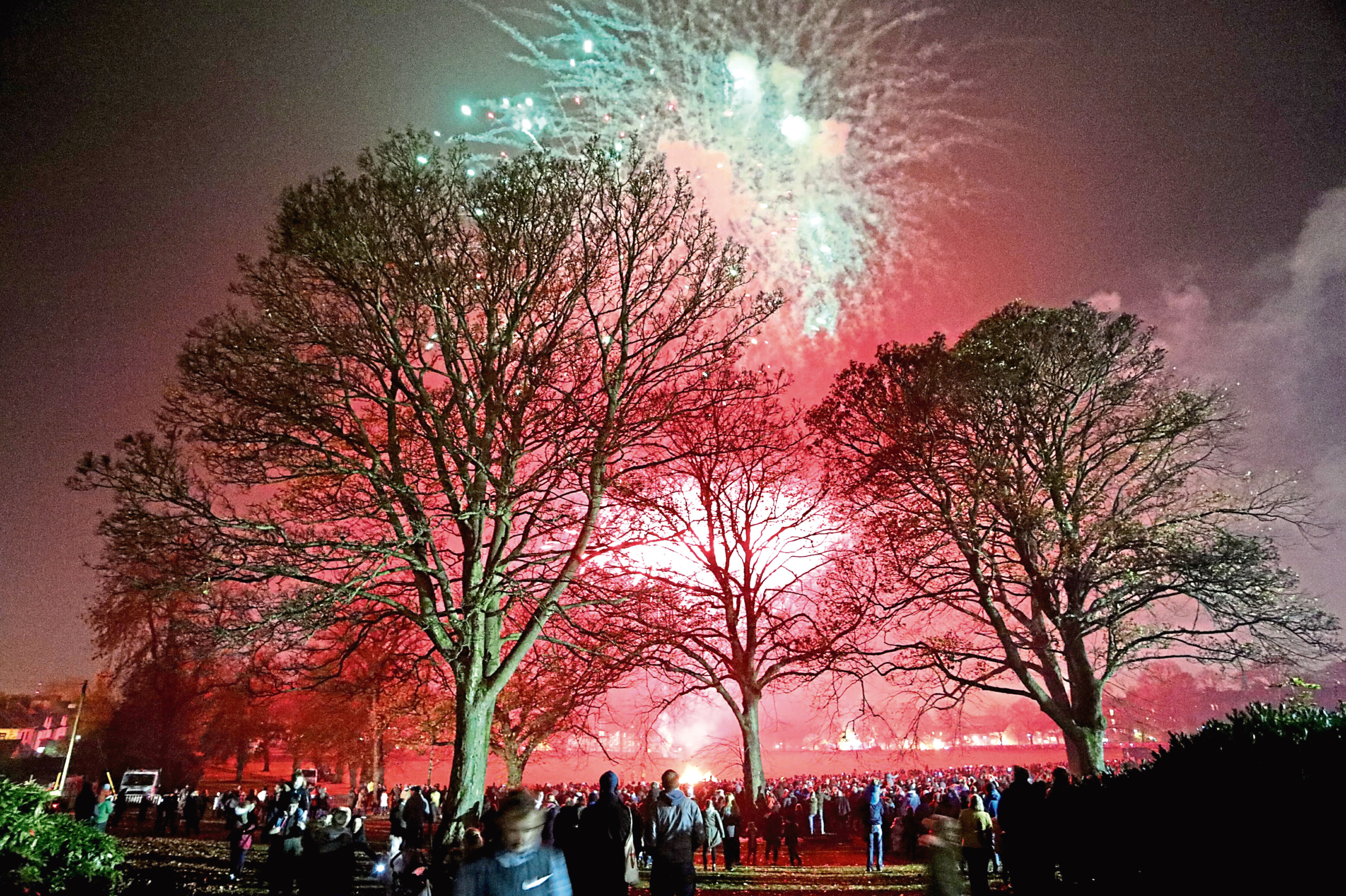 Last year's fireworks display in Baxter Park.