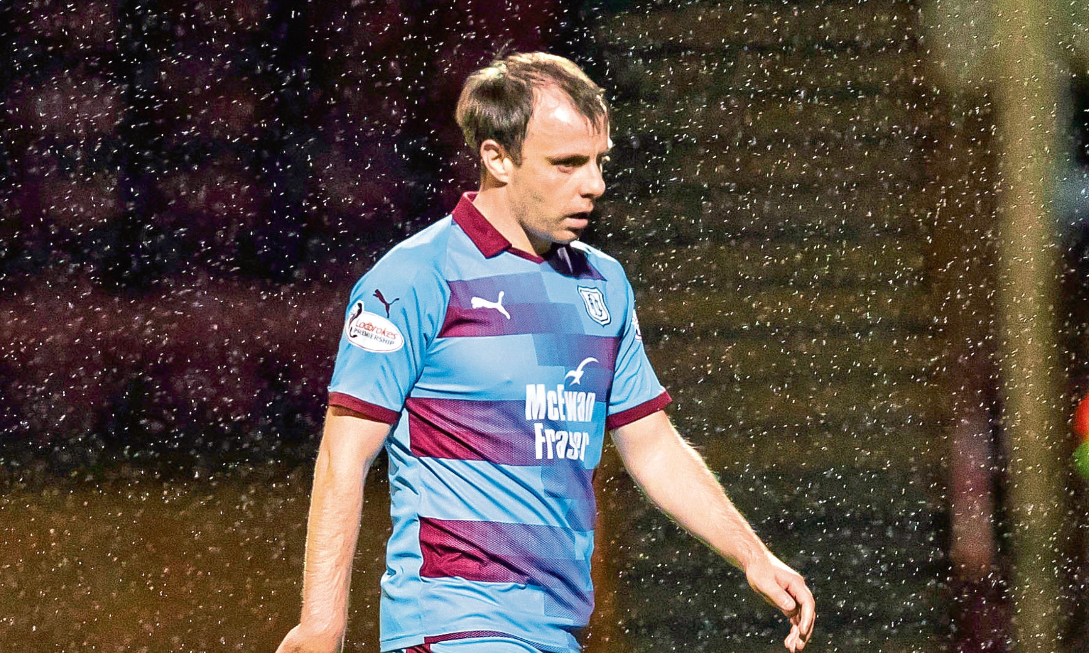 Paul McGowan returned to action at Motherwell on Saturday
